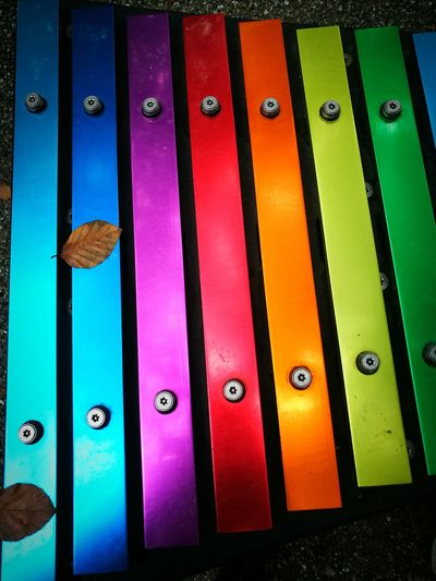 Multi Colored No People Pattern Close-up Musical Instrument Vibraphone Vivid Colours  Leaves 🍁 Autumn Leaves The music of falling leaves TakeoverMusic