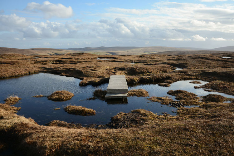 Hermaness Nature Reserve, the Northernmost point of UK, March 2017. Hiking all day without meeting anyone. 60° North Beauty In Nature Gold Hermaness Hiking Trail Islands Isolation Landscape Landschaft Loneliness No People Outdoors Peat Bog Ponds Scenics Scotland The Secret Spaces Tranquility Travel Photography Traveling Unst Wooden Path Wilderness Into The Wild TCPM Neighborhood Map The Great Outdoors - 2017 EyeEm Awards Breathing Space Been There. Lost In The Landscape Perspectives On Nature EyeEm Ready   Shades Of Winter An Eye For Travel Going Remote The Great Outdoors - 2018 EyeEm Awards Be Brave A New Beginning A New Perspective On Life