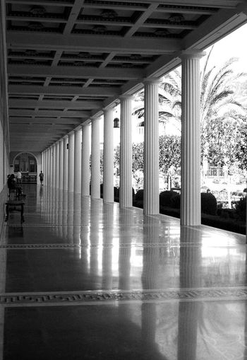 The Getty Villa Los Angeles, California 35mm Film Blackandwhite Light And Shadow