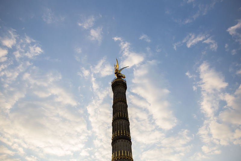Architectural Column Architecture Capital Cities  Cloud Cloud - Sky Column Culture Famous Place History International Landmark Low Angle View Monument Siegessäule  Sky Tall - High Tourism Travel Destinations Victory