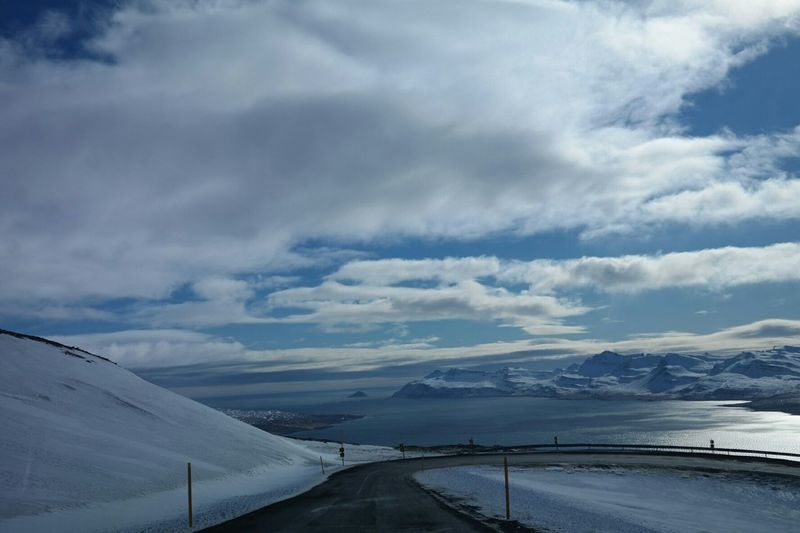 Nature From My Car On The Road Mountain Snow Sky Sky And Sea Sky And Clouds Landscape_Collection Landscape