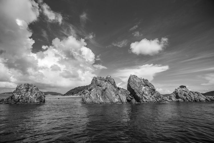 Black & White Sky And Clouds The Indian Wildlife Beauty In Nature Black Black And White Blackandwhite Cloud - Sky Day Iceberg Landscape Mountain Nature No People Outdoors Rock - Object Scenics Sea Sky Sky Porn Tranquil Scene Tranquility Water Waterfront