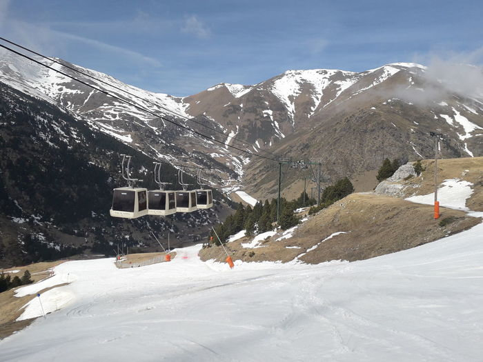 Mountains Girona Catalonia Catalunya Vall De Núria Snowboarding Mountain Snow Ski Lift Cold Temperature Winter Ski Holiday Snowcapped Mountain Winter Sport Snowing
