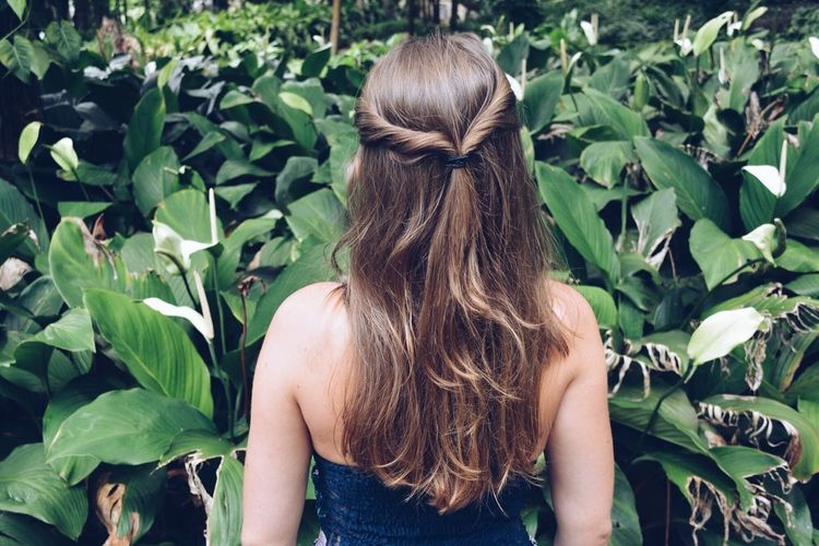 Landscape Jungle Alice In Wonderland Nature Photography Nature Rear View Only Women Human Back Long Hair One Person Leaf Adults Only Women Plant Outdoors People Day