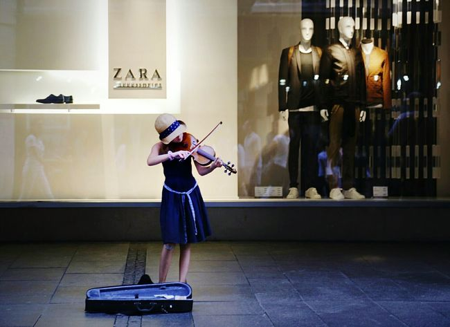 Music Musical Instrument Arts Culture And Entertainment Girlpower Fashionable Playing Musician Belgrade Knez Mihajlova Street Musician Full Length One Person Children Only People Standing Practicing Indoors  Childhood Day First Eyeem Photo
