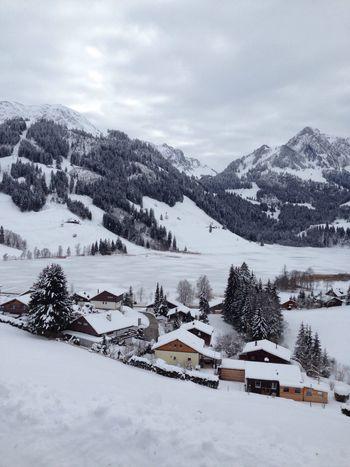 Schweiz Schwarzsee Fribourg Switzerland Skiday Nice Day No Filter Panorama