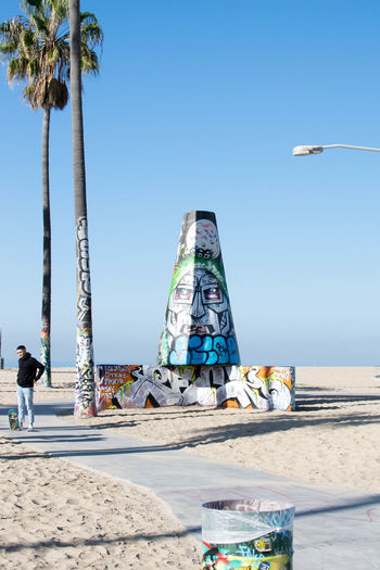 Los Angeles, California Los Ángeles Venice Beach Beach Beauty In Nature Clear Sky Day Full Length Horizon Over Water Leisure Activity Lifestyles Nature One Person Outdoors Palm Tree People Real People Sand Scenics Sea Sky Tree Vacations Venice Water