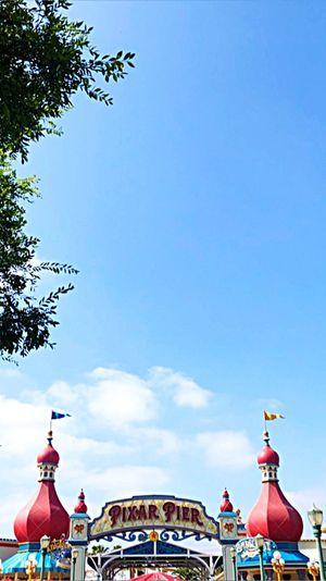 Disneyland Pixar Pier Sky Art And Craft Arts Culture And Entertainment Day No People Amusement Park Ride Amusement Park