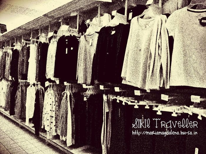 Clothing in black and white, yay or nay? Clothing Department Store Sikil Traveller Black & White Sony Xperia Photography.