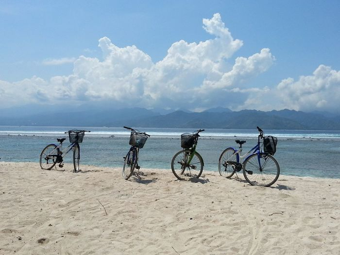 Bicycles On Beach
