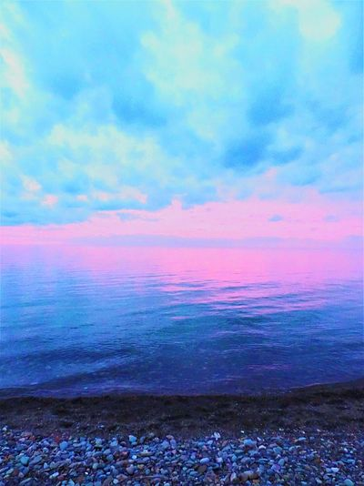 Sea Sunset Beach Horizon Over Water Scenics Outdoors No People Purple Pink Color Multi Colored Dramatic Sky Landscape Nature Beauty In Nature Sky Day Sand Lake Erie Beach Photography Waterfront Beach Life Lakeview Extreme Weather Cloud - Sky Water