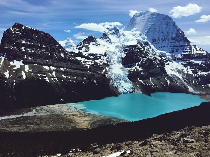 Mount Robson, Canada Berg Lake Perspectives On Nature