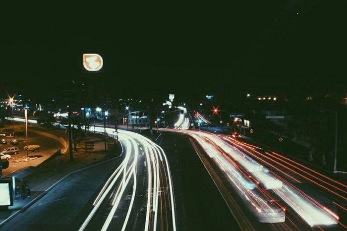 Entrada a playas de Tijuana Mexico Citylights Night Lights Long Exposurenight