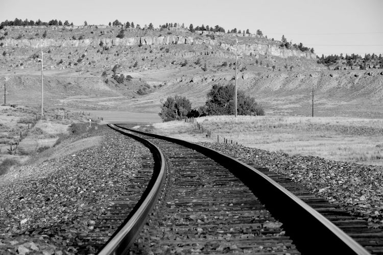 Surface Level Of Railway Tracks Along Landscape