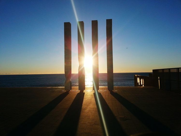 Taking Photos sunset Sea Sunset The Blue Sky Good Morning Sunshine Colors Of The Night Barcelona Seaside Seascape