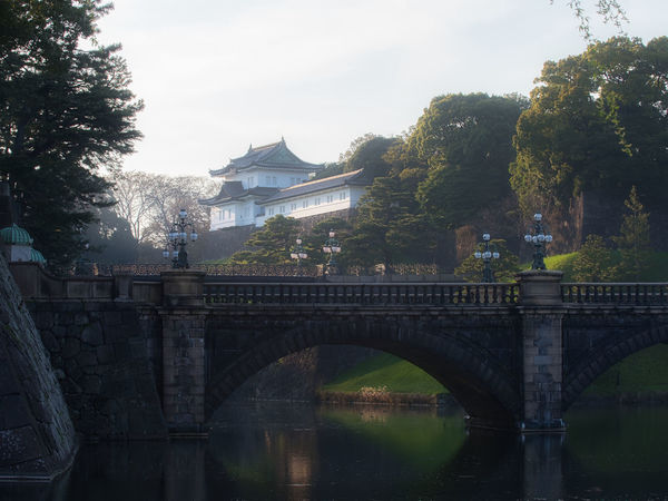 Imperial Palace in the evening. Imperial Japan Tokyo Tradition Arch Bridge Architecture Bridge Bridge - Man Made Structure Building Exterior Built Structure Connection Day Evening House, Nature No People Outdoors Palace, Plant Religion River Shintoism Travel Destinations Tree Water