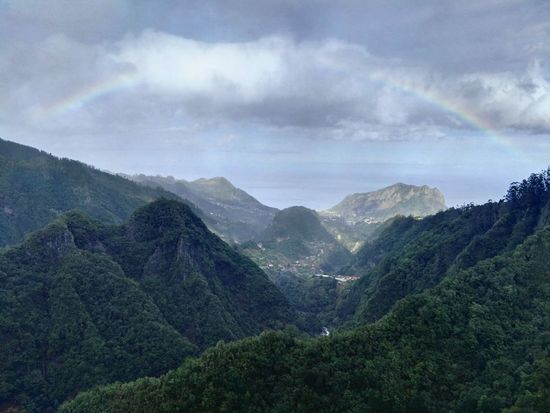 Mountain Landscape Nature Scenics Pine Tree Beauty In Nature Mountain Range Forest Tranquility Tree Oceanview Vacation Mountain Peak Madeira Outdoors Rainbow Rainbow🌈 Greenery