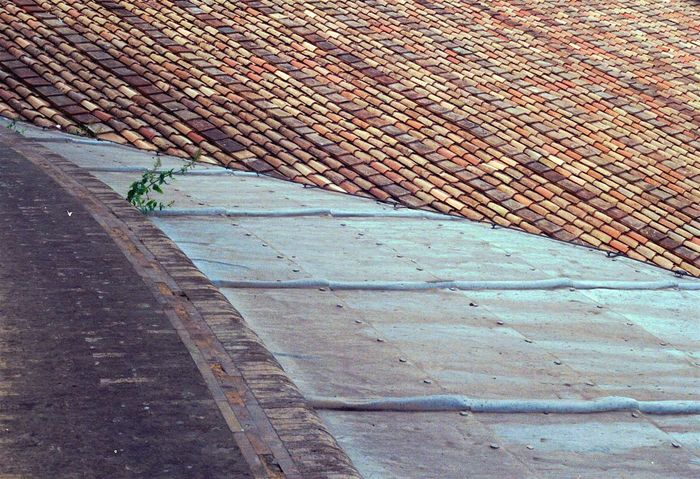 Abstract Abstract Photography Analogue Photography Architectural Detail Architecture Architecture Built Structure Cityscape Day Details Film Film Photography Filmphotography Geometry Italy Minimalism No People Outdoors Rome Rooftop Rooftops Shingles Texture Textured  Warm Colors