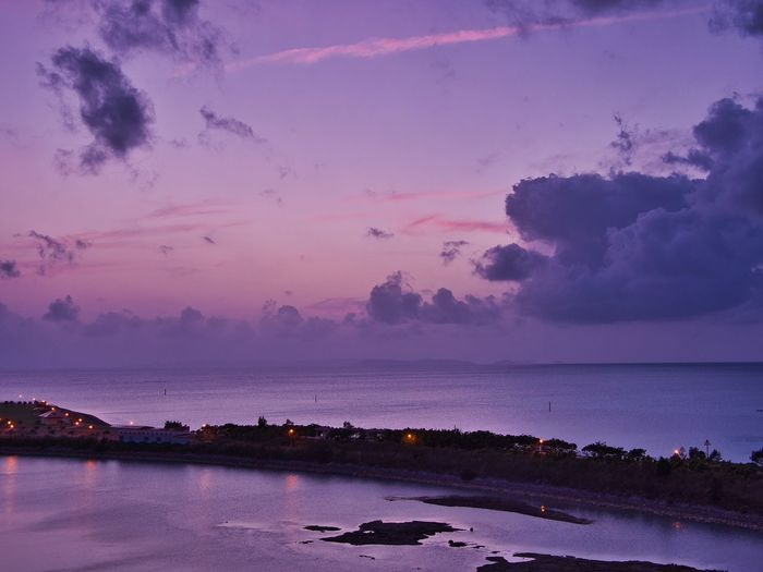 OLYMPUS DIGITAL CAMERA Okinawa Sky Water Cloud - Sky Beauty In Nature Scenics - Nature Tranquil Scene Tranquility Sea Sunset Horizon Horizon Over Water Nature Outdoors Beach Waterfront