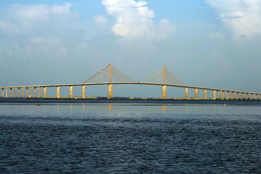 Architecture Bridge Bridge - Man Made Structure Built Structure Saint Petersburg Florida Scenics Sky Sunshine Skyway Bridge Tampa Bay Tourism Water