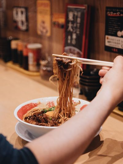 Ramen eating EyeEm Selects Human Hand Hand Human Body Part Holding One Person Food And Drink Real People Lifestyles Focus On Foreground Food Freshness Indoors  Adult Bowl Unrecognizable Person Women Close-up Asian Food Finger Japanese Food