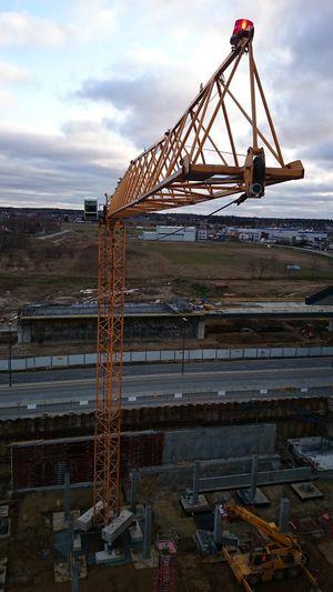 Crane Gdansk Gdansk Airport Terminal 2 Lech Walesa Airport Industrial Equipment Tower Crane