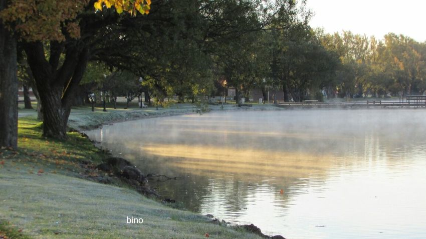 Early Morning Around The Lake Foggy And Frosty! Chilly Weather Sun Splashes Lake Cadillac Pure Michigan