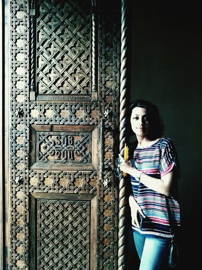 Door Echmiadzin, Armenia Portrait Of A Friend Church Traveling Silence TravelIsLife Doors Travel Portrait Portrait Of A Woman Armenia Carved Wood Wooden Telling Stories Differently Woman The Portraitist - 2016 EyeEm Awards Myfriend Girl Girlfriend Original Experiences Feel The Journey Fine Art Photography