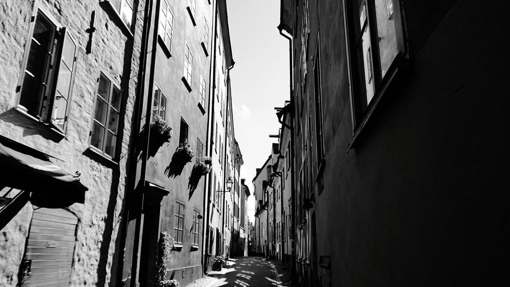 Stockholm Architecture Narrow Houses Small Street Sweden History Gamla Stan