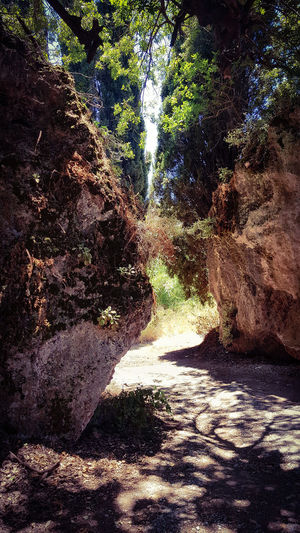 Narrow passage,