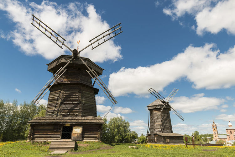 Windimill of Suzdal, Russia. Suzdal' Alternative Energy Architecture Built Structure Cloud - Sky Day Environment Environmental Conservation Field Fuel And Power Generation Land Landscape Nature No People Outdoors Renewable Energy Rural Scene Sky Traditional Windmill Turbine Wind Power Wind Turbine