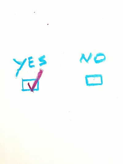 Drawing - Art Product Backgrounds Paper Yes No Design Stockphoto EyeEmBestPics Tick ArtWork Artistic Solution Answer Answering Question Blue Yes Or No? Yes Or No??? Decision Decisions Done Tasks Organization Organized