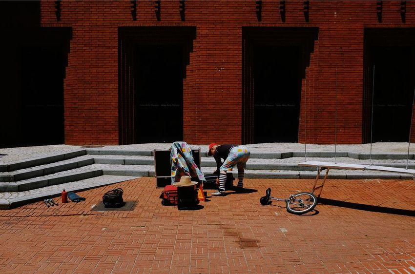 Built Structure Architecture Building Exterior Real People Brick Men Brick Wall