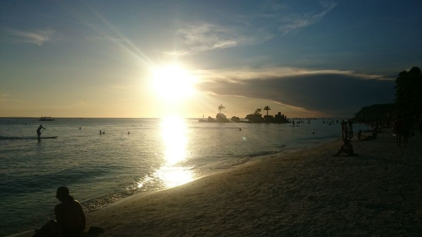 LaBoracay sunset. Sunset Beach Sunset Island Life Laboracay Crowd Beach Crowd Beach Philippines Aklan Eyeem Philippines Happy Place No Filter Needed