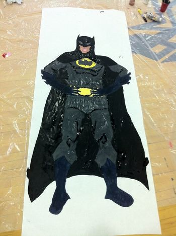 Painting Drawing Batman Partners In Crime