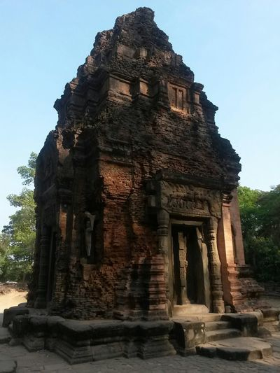 Cambodia South East Asia Ancient Ancient Civilization Angkor Archaeology Architecture Belief Built Structure Day History Low Angle View Nature No People Old Ruin Outdoors Place Of Worship Religion Ruined Sky Spirituality The Past Tourism Travel Travel Destinations