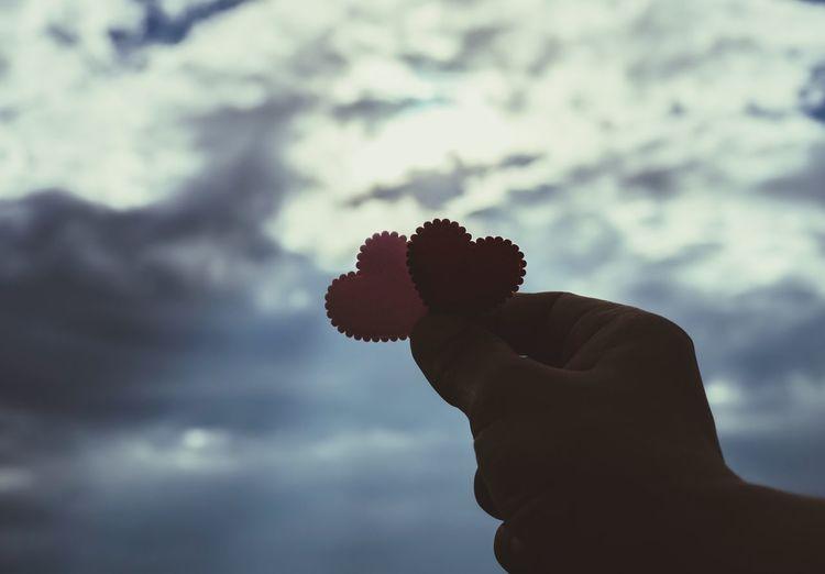 Hand Heart Sky