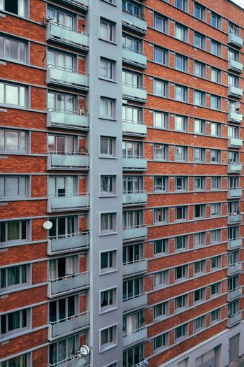 Colour Your Horizn Lille Apartment Architecture Building Exterior Built Structure City Day Full Frame Housing Development Lille, France No People Outdoors Residential  Residential Building Window