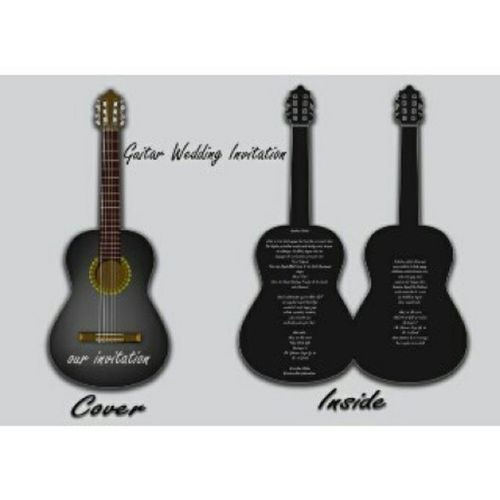 Desain Guitar wedding invitation Desain NativeProduction Latepost
