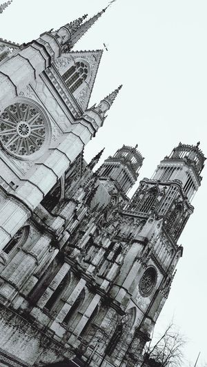 Black And White Black & White Orléans Cathedral Orléans France Orléans 🔴⚫️🙌 Religious Architecture Catholic Church Low Angle View Day No People Outdoors Sky