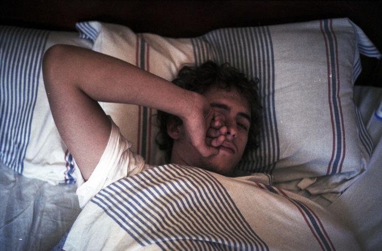 sleepy | 2015 Analog Analogue Photography Bed Person Portrait Of A Man  Sleep