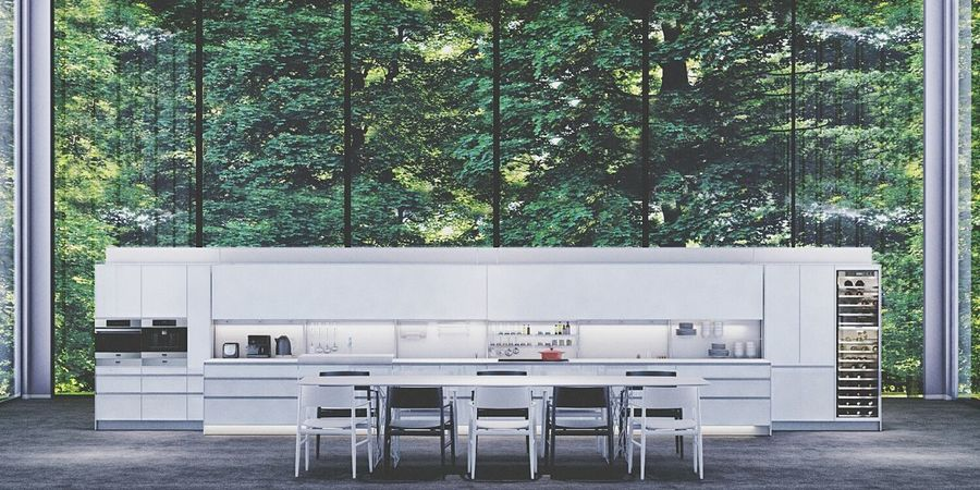 3drender Renderings Architecture Interior Interior Design Valcucine Kitchen Kitchen Italy