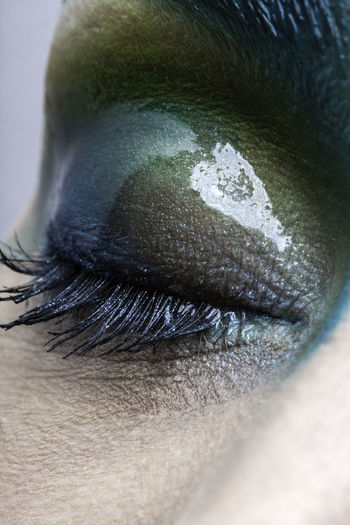 Cropped image of eye with make-up