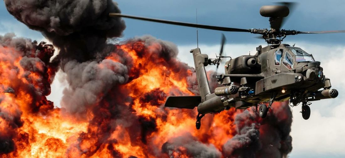 Flame Fire - Natural Phenomenon Burning Day Sunny Outdoors No People Extreme Close Up Apache Longbow Helicopter