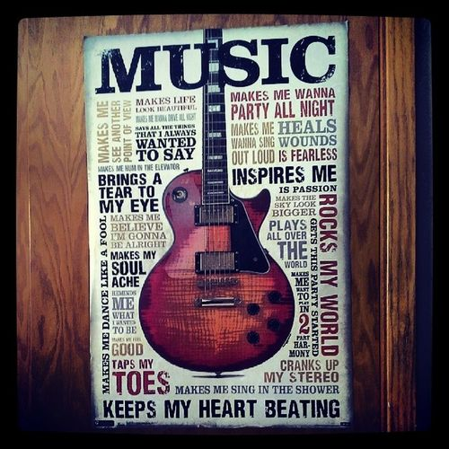 Just put up my poster I bought at Tjmaxx Music InspirationalQuotes Musicquotes Quotes inspired