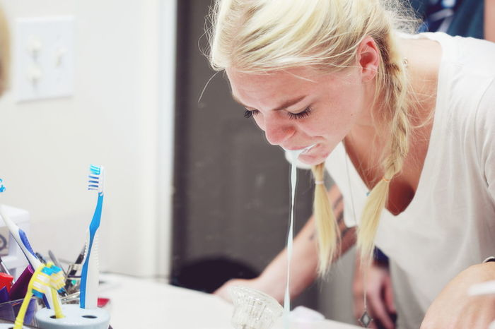 Bathroom Brushing My Teeth Cute Daily Life Family Girl Headshot Home Life Lifestyles Morning Rituals People Person Portrait Teeth Toothbrush Woman Young Adult Young Women