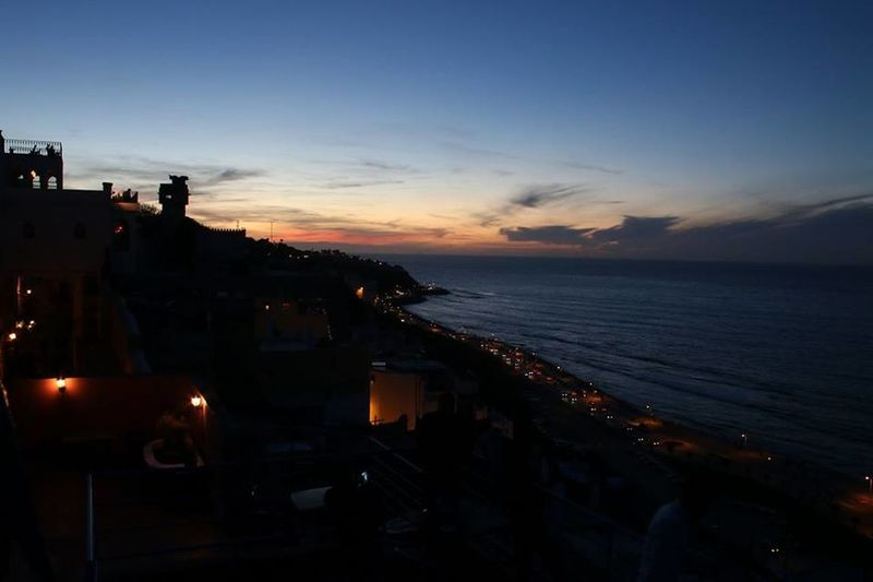 Coast Detroitpalace Mediterranean Sea Merqala Road Sea Sunset Tangier