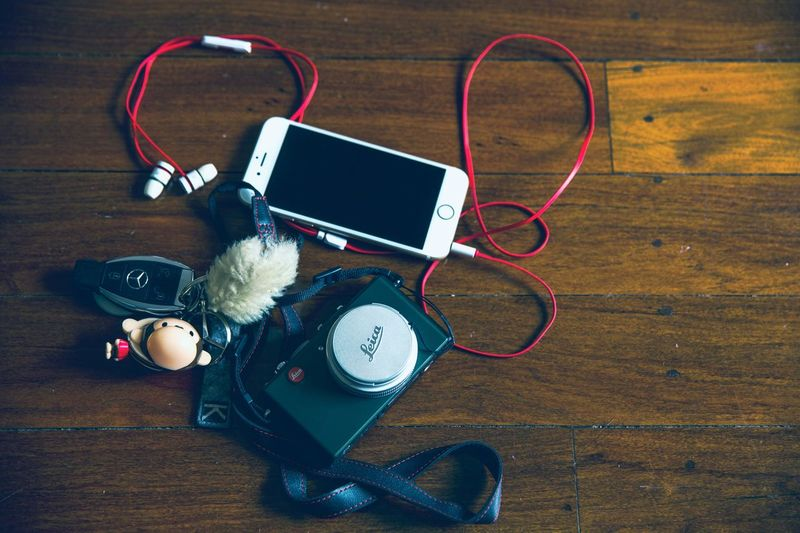 Let's Go. Together. Technology Indoors  Still Life High Angle View Table Headphones No People Wood - Material Music Close-up Day EyeEm Selects