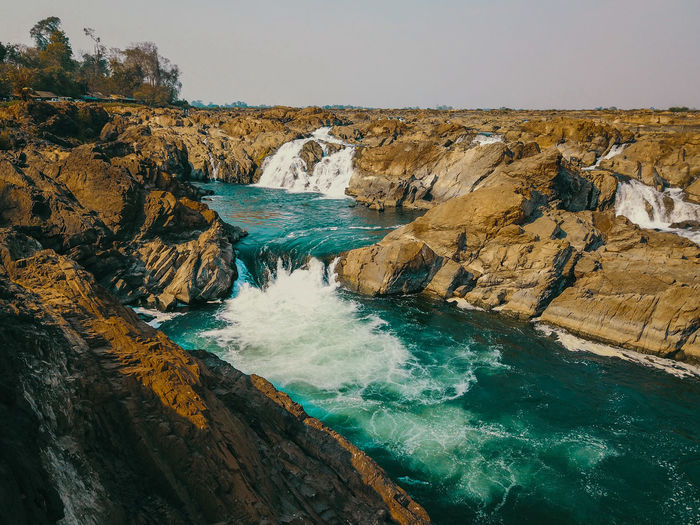 Sopheakmit waterfall which is located in stung treng, cambodia.