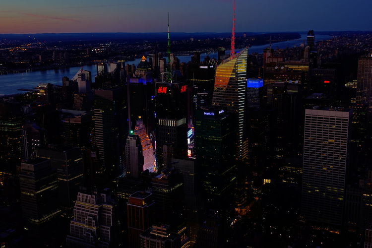 New York City Manhattan Top Of The Rock NYC Observation Deck Building Exterior Architecture City Built Structure Cityscape Building Office Building Exterior Modern Skyscraper Illuminated No People Tower Tall - High Night Sky High Angle View City Life Outdoors Financial District  Spire